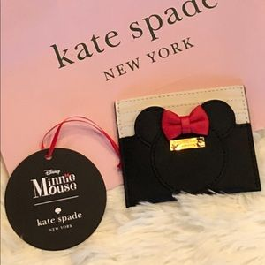 Kate Spade Disney Minnie Mouse Leather card holder